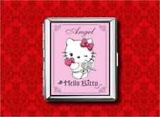 HELLO ANGEL KITTY CAT METAL WALLET CARD CIGARETTE ID IPOD CASE