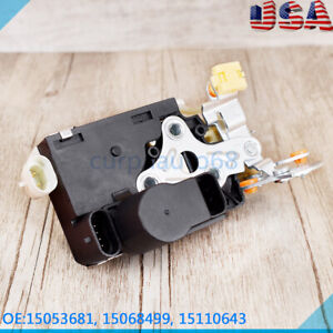 For Chevy GMC Silverado Door Lock Actuator Integrated Latch LH Driver Side Front