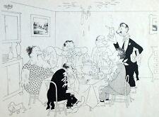Mahlzeit Restaurant Humor Konserve Fermentiert Karikatur Albert Dubout 1944