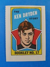 1971-72 TOPPS BOOKLET SET NO. 17 THE KEN DRYDEN STORY NM-MINT or better RC