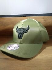 Mitchell & Ness Chicago Bulls Flight Pattern Military Green Snapback NBA Hat NWT