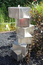 2. Wahl Würfeltreppe Edelstahl matt gebürstet 100 cm Säulenbrunnen Gartenbrunnen