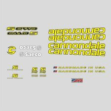 Cannondale CAAD 5 Fahrrad Aufkleber Transfers Sticker: gelb n.7