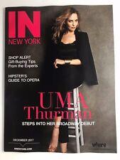 Uma Thurman Kill Bill actress In New York Magazine mint condition December 2017