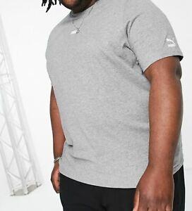 PUMA Plus Logo T-Shirt Tee Top - Grey - Size 3XL 4XL - OZ STOCK!