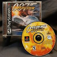007 Racing (Sony PlayStation 1, 2000) PS1 Black Label Complete w/Manual CIB