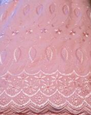 """Pink Eyelet Double Scalloped Border -45"""" By: Richlin  By the Yard"""