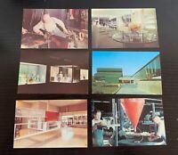 Lot of 6 Original Vintage Postcards - Corning Glass Center, Corning, New York