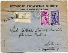 1951 Italia al Lavoro RACCOMANDATA Ricevitoria Provinciale di Udine Cassa Risp.