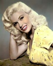 "JAYNE MANSFIELD KISS THEM FOR ME 1957 ACTRESS 8x10"" HAND COLOR TINTED PHOTOGRAPH"