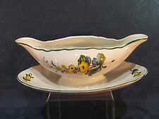 Villeroy & Boch Jamaica Gravy Jug / Sauce Boat and Attached Saucer