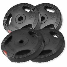 Gorilla Sports 2x 5KG 2x 10KG Vinyl Tri Grip Weight Plates