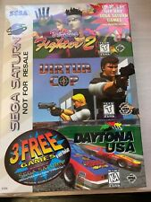 Sega Saturn 3 Game Pack Virtua Fighter 2, Virtua Cop, Daytona USA - New Sealed