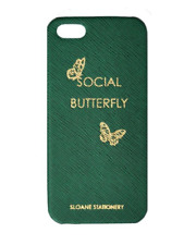 Sloane Stationery iPhone 5 Case Green Gold Social Butterfly Phone Cover Protect