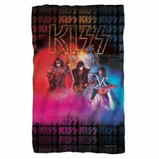 KISS UNMASKED FLEECE BLANKET OFFICIAL 2016 - BEAUTIFUL COLORS!
