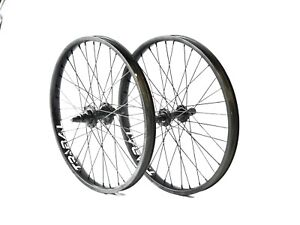"Tribal BMX 20"" Front and Rear Wheel set - Black"