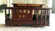 VTG Cable Street Trolley Car Night Nite TV Light Lamp Wooden SAN FRANCISCO Table