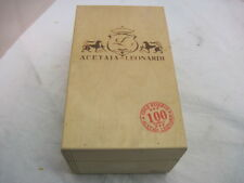 OLD WOOD ACETAIA LEONARDI BALSAMIC VINEGAR GOLD RESERVE WOOD CRATE BOX CARRIER