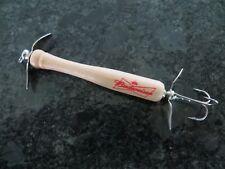 Custom Budweiser Beer Dual Prop Wood Baseball Bat Lure - 3 1/2  inch