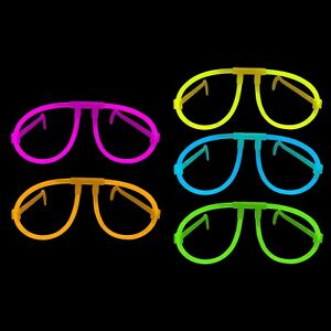 Glow Glasses Neon Individually Wrapped - Disco, Party, Rave 5 Colours Available