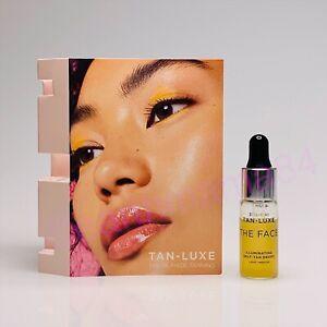 TAN LUXE THE FACE Illuminating Self Tan Drops Travel Light Medium 4 mL NEW