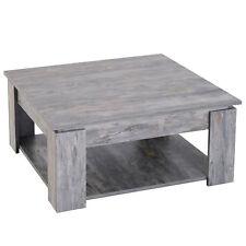 HOMCOM  Tavolino da Caffè da Salotto Soggiorno Moderno Legno di Design