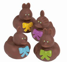 Chocolate Easter Bunny Set of 4 **Free S/H when you buy 6 items from my store:-)