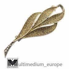Original Theodor Fahrner Brosche Silber 925 vergoldet Markasit 30er Jahre ❀☺❀