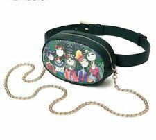 Cute Flower Cartoon Girls Belt Bag Round Fanny Pack Shoulder Chain Waist Strap