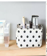 WHITE & BLACK SPOT POLKA DOT Desktop Organiser Storage Basket Dalmatian Decor