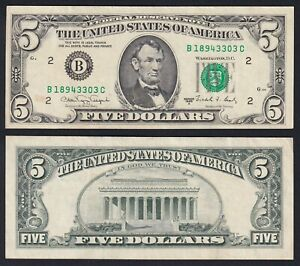 United States 5 Dollars New York 1988 A BB VF+ C-D1