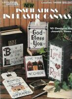 Inspirations in Plastic Canvas Leisure Arts 1488 Tissue Box Sampler Album Cover