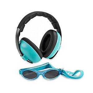Banz Hear/See No Blare Baby Ear Hearing Protection Earmuffs & Sunglasses 3m+ BLU