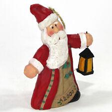 "Midwest of Cannon Falls BRILLIANT CHRISTMAS 4.5"" Ornament Eddie Walker Santa"