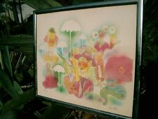 """ART BY CARIELLO LITHOGRAPH 16/300 CIRCUS PERFORMERS WITH UMBRELLAS 25.5 X 21.5"""""""