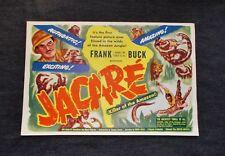 "Vintage Original 1942 JACARE Movie Poster ""Killer of the Amazon""  Frank Buck"