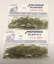 "Preferred Plastics -Hula Hog -Brush hog- Lot -2 packs -Mist Green- 3.5""- 20 Qty."