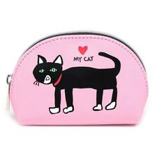 "*NWT* Marc Tetro NYC Black Cat on Mini Case/Coin Purse Heart My Cat 5.5"" x 3.75"""