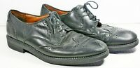 Bill Blass Black Leather Shoes Size 10 M Wing Tips Dress Oxford Formal Brogue