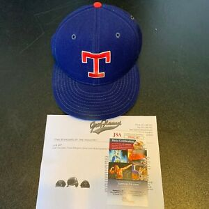 Juan Gonzalez Signed Game Used Texas Rangers Baseball Hat Cap With JSA COA