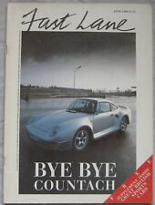 Fast Lane 06/1986 featuring Porsche 959, AMG Mercedes, Aston Martin, Saab,Toyota
