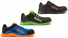 Sparco Practise blue/orange, green or black lightweight S1P safety trainer shoe