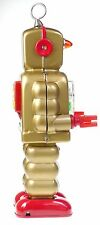 GOLD COG ROBOT  SPARKS I CHEST CLOCKWORK HIGH WHEEL ROBOT COLLECTIBLE