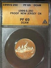 1999-S New Jersey State Quarter Proof ANACS PF 69 DCAM Quarter Clad