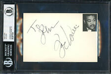 "Joe Louis Autographed 4x6 Index Card ""To John"" Auto Grade 10 Beckett 12411538"