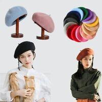 Beret Hat Women Vintage Beret Hat Solid Color Winter Cap Women Accessories Gifts
