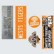 NRL Wests Tigers Set of 5 UV iTag Bumper Decals / Stickers