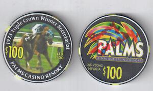 PENNY TWEEDY SIGNED SECRETARIAT PALMS CASINO TRIPLE CROWN $100.00 LIM ED CHIP!