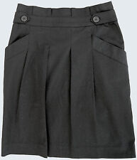 "MM Couture by Miss Me ""Paper Bag"" Skirt S Black Stretch Cotton Lined LkNu"