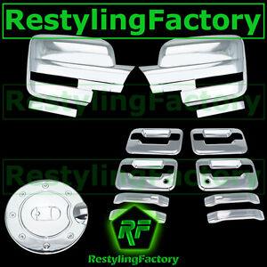09-14 Ford F150 Chrome Mirror+4 Door Handle+no keypad+PSG keyhole+Gas Fuel Cover